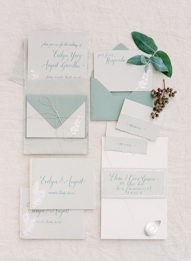 Invitations suite by Benna Berger Paper & Ink | Photo by Adrian Michael Photography | Jose Villa Workshop