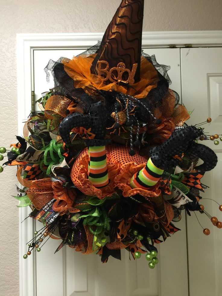 Witch Quot Crash Quot Halloween Wreath By Twentycoats Wreath