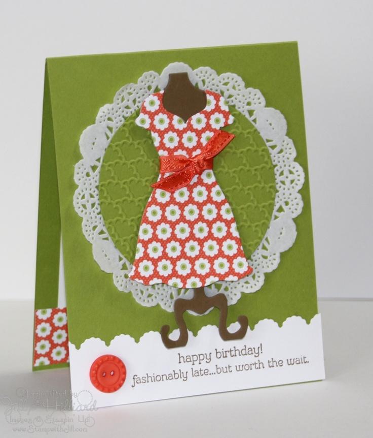 Jills Card Creations: Sweet Cards, Cards Ideas, Jill Cards, Dresses Cards, Dresses Die, Cards Posts, Cards Creations, Kristen Cards, Cards Stampin Up