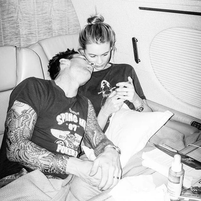 Adam Levine and his wife Behati Prinsloo