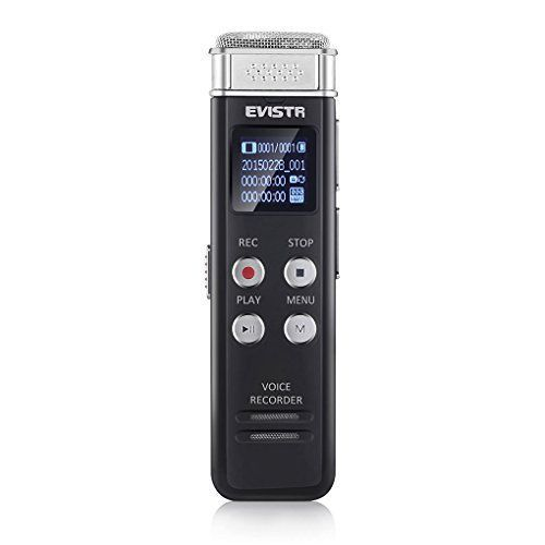 Voice Recorder For Lecture Interview 8GB Noise Reduction Professional Dictaphone #VoiceRecorder