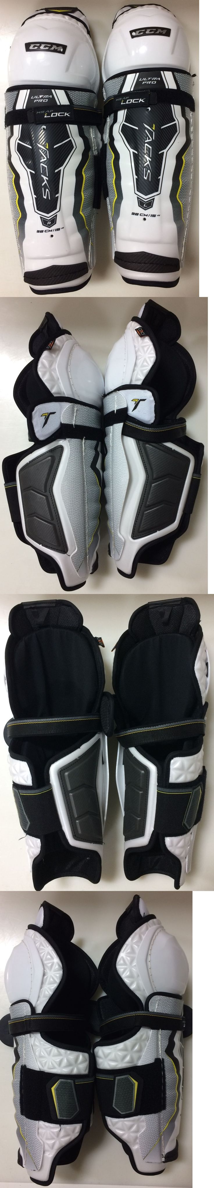 Pads and Guards 20856: Ccm Ultra Pro Tacks Pro Stock Hockey Shin Pads Guards Senior 15 2544 -> BUY IT NOW ONLY: $125 on eBay!