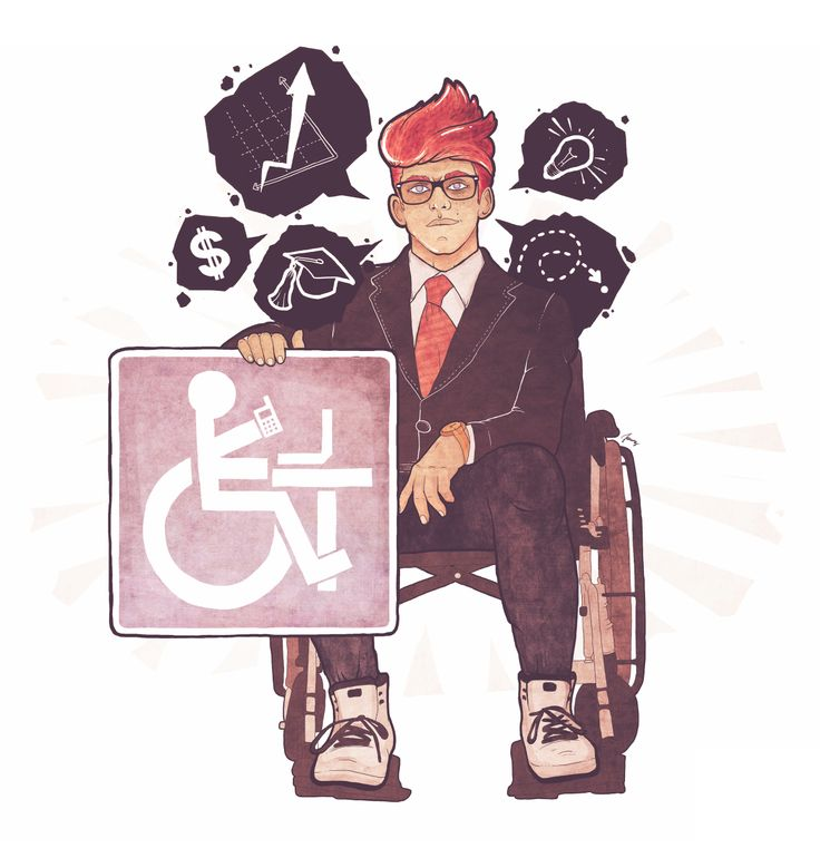 Niepełnosprawni na rynku pracy. grafika: Dawid Janosz