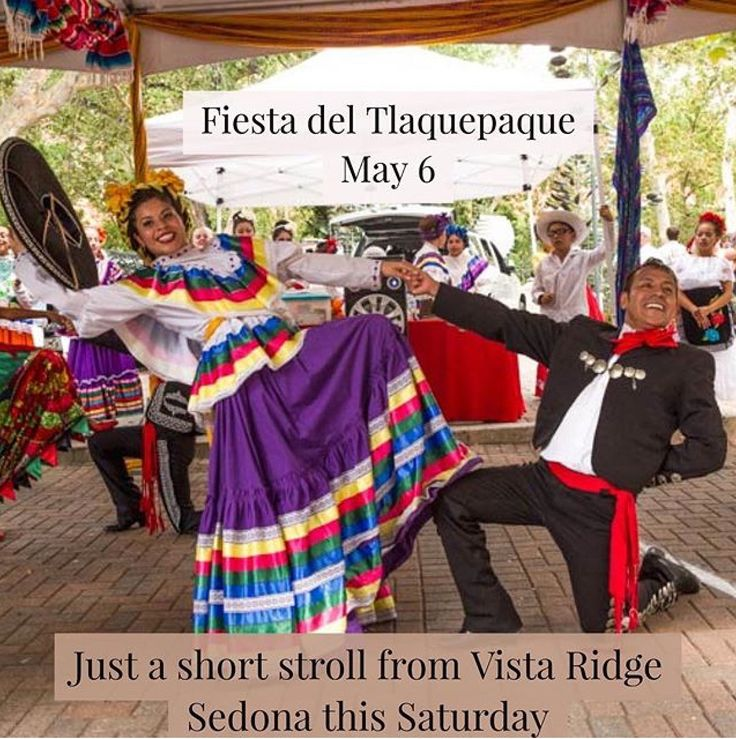 Just a short stroll from your luxury vacation condo rental at Vista Ridge Sedona: Fiesta del Tlaquepaque!  Experience the colorful Fiesta nearby Saturday, May 6th, 2017 11:00AM to 5:00PM at Tlaquepaque. Enjoy the festivities including mariachi musicians, Folklorico dancers and savor traditional Mexican food. Be a judge at the Great Sedona Chili Cook- Off while you're there!