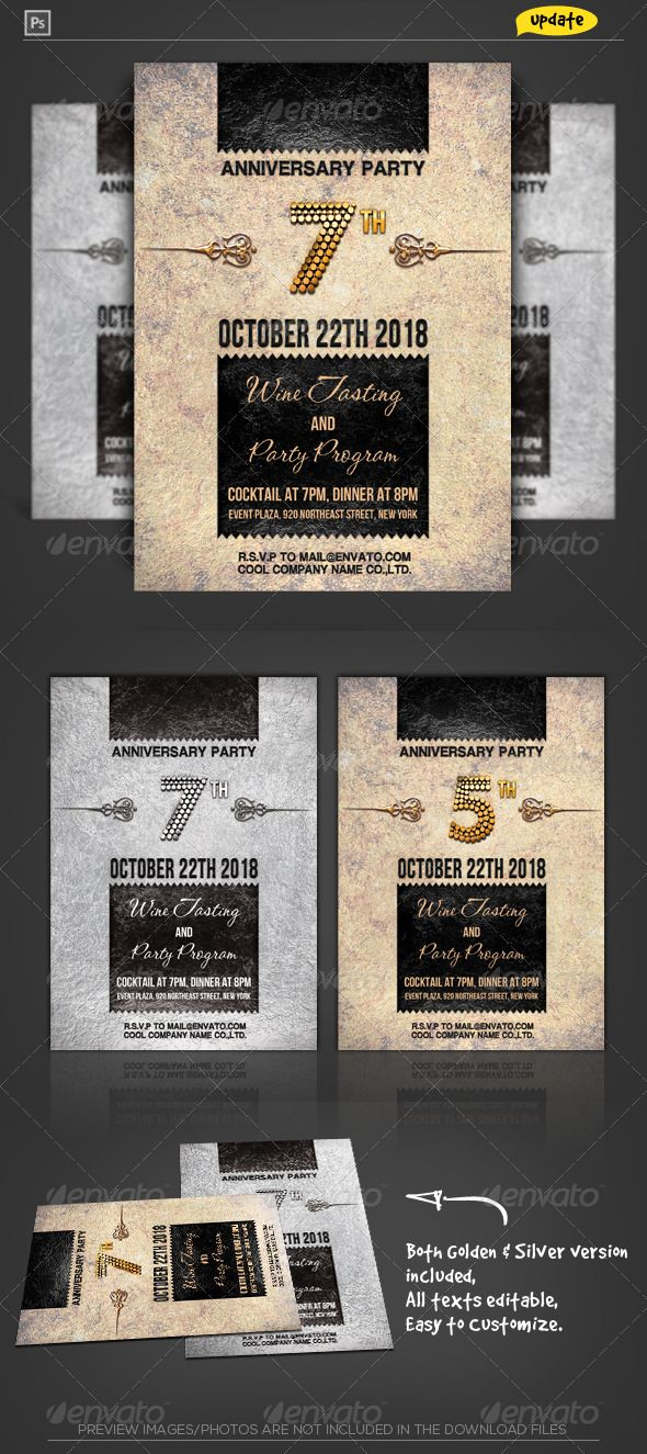 business event invitation templates%0A Corporate Anniversary Invitation