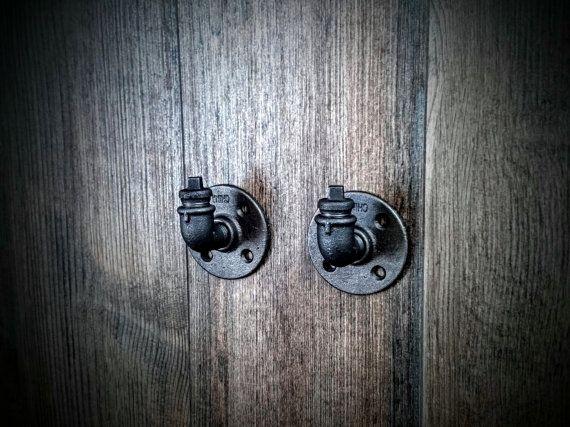 2 Stück Wand-Haken, Handtuch-Haken, Kleiderhaken, Robe Haken, dekorative Wand-Haken, Badezimmer Haken, Badezimmer Handtuch Haken, Kleider Haken, Pipe-Haken