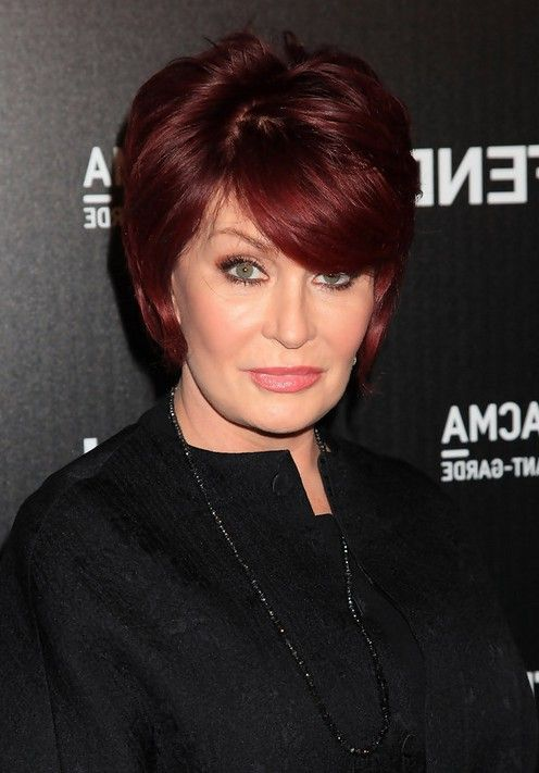 hairstyle for women over 60 Sharon Osbourne hairstyle