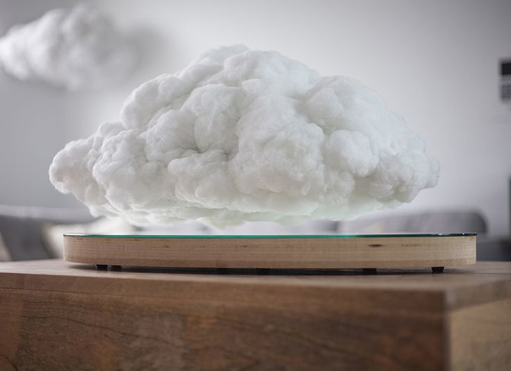 floating cloud speaker creates a levitating lightning storm in your home