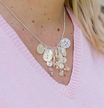 c/o Stitch Craft Create - make a button necklace with beautiful old Mother of Pearl buttons