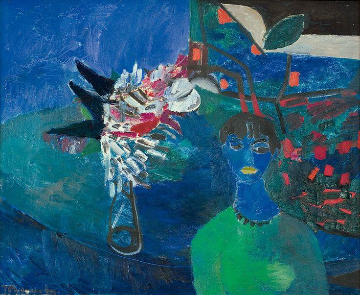 Teresa Pągowska | <i>AUTOPORTRET, ok. 1958</i> | olej, płótno | 80.5 x 98.5 cm