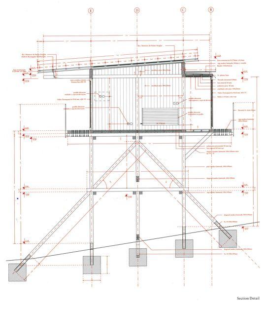 Smiljan Radic - Wood house,Colico Lake 2015. The stilt like...