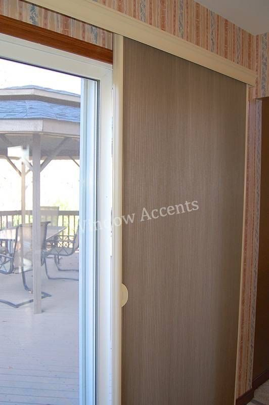 This Hunter Douglas Duette Vertiglide Is One Of My Favorite Ways To Cover A Sliding  Glass Door. When Fully Opened It Stacks To A Mere Provides Great ...