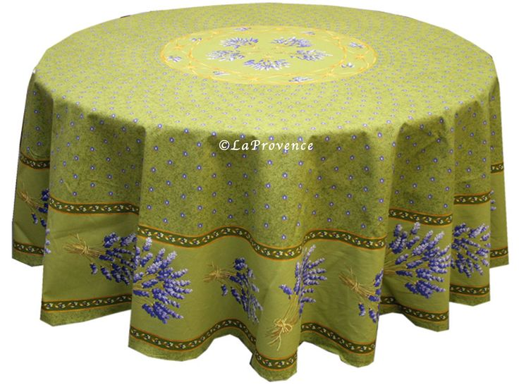 "70"" Round Provence Tablecloth:  Lavender Green"