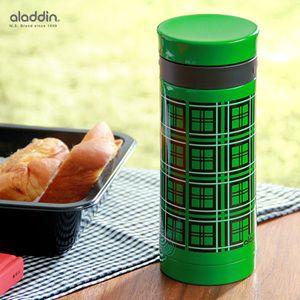 アラジン/ピースグリーン/水筒/緑のタータンチェック/水とう/マイボトル/aladdinAVEOレッドチェック/アウトドア/行楽/魔法瓶