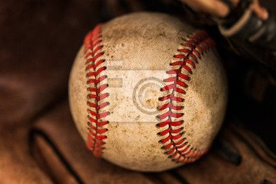 """Wall Mural """"baseball, baseball, seam - baseball glove with ball"""" ✓ Easy Installation ✓ 365 Day Money Back Guarantee ✓ Browse other patterns from this collection!"""