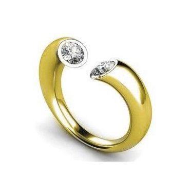 Diamantring / Diamantarmband / Diamantschmuck: Diamantring mit zwei Diamanten 0.75 Karat aus 585e...
