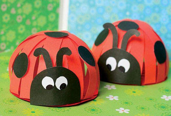 كيف تصنع خنفساء 3d بالورق الملون اشغال يدوية للاطفال Crafts Kids Hats