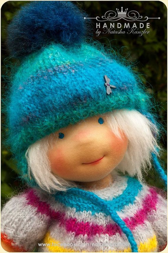 Traditional Waldorf doll 18 inch. Christmas by kiwinestling