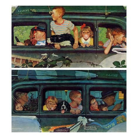"""Outing"" or ""Coming and Going"", August 30,1947 Giclee Print by Norman Rockwell at AllPosters.com"