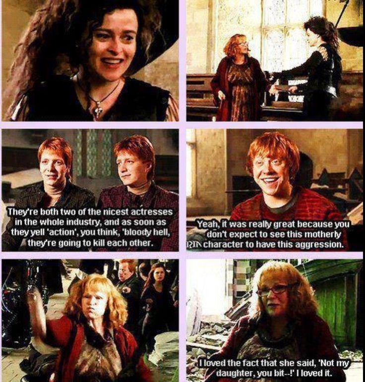 I loved it too, Mrs. Weasley, I loved it too.
