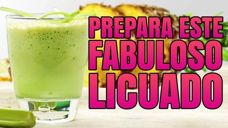 Prepara Este Fabuloso Licuado de Linaza, Piña y Pepino. ¡Pierde Peso Com...