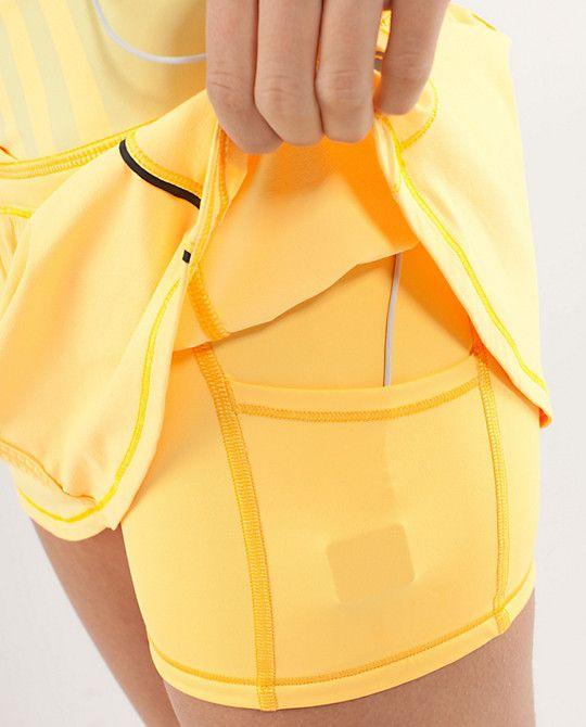 RUN:Pace Skirt  - LOVE this lululemon running skirt:)