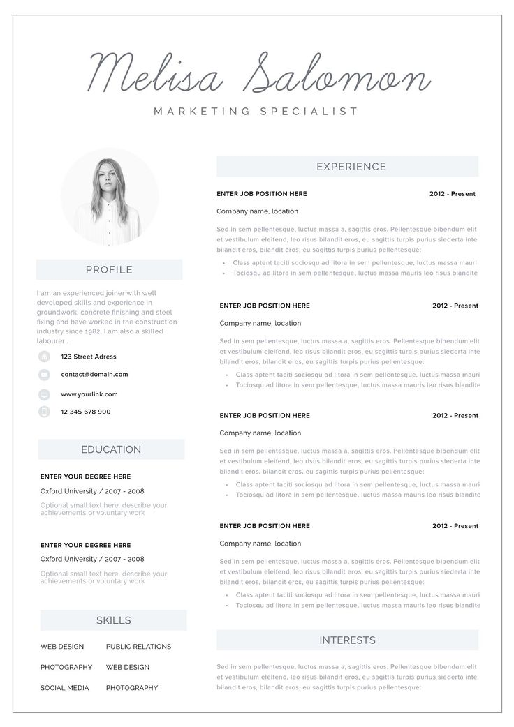 Resume template 1 2 page melbourne teaching resume