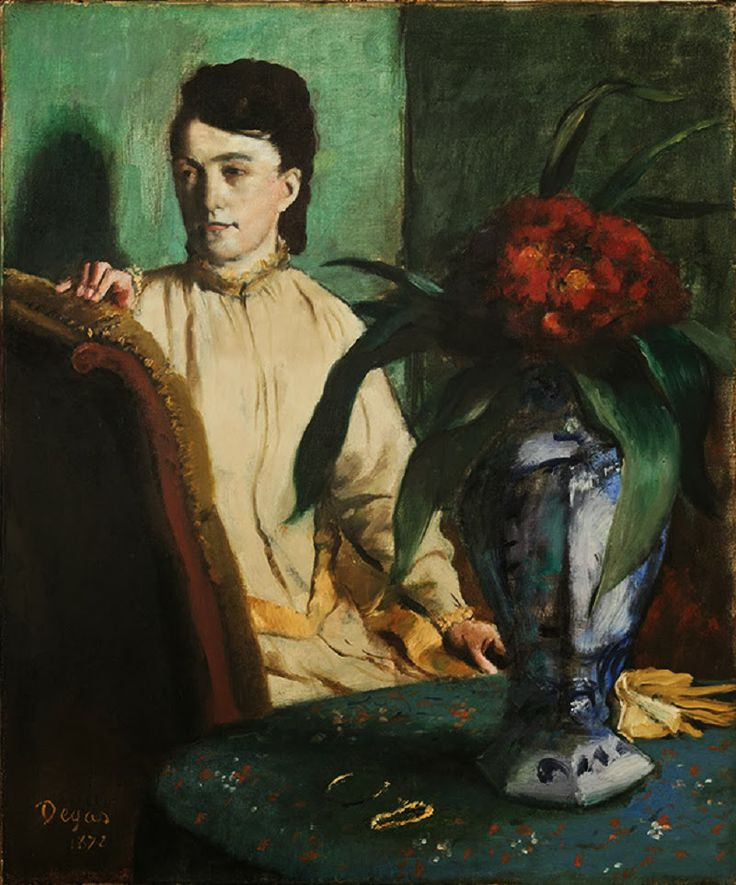 Ritratto di donna con vaso di porcellana, #Degas From Glob-Arts