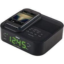 Reloj Despertador radio soundflow RC250BK Rca Acoplamiento Inalámbrico para…