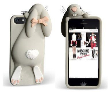 Gray Soft Rabbit Bunny Silicone Back Cover Case for Iphone 5C: Amazon.co.uk: Electronics
