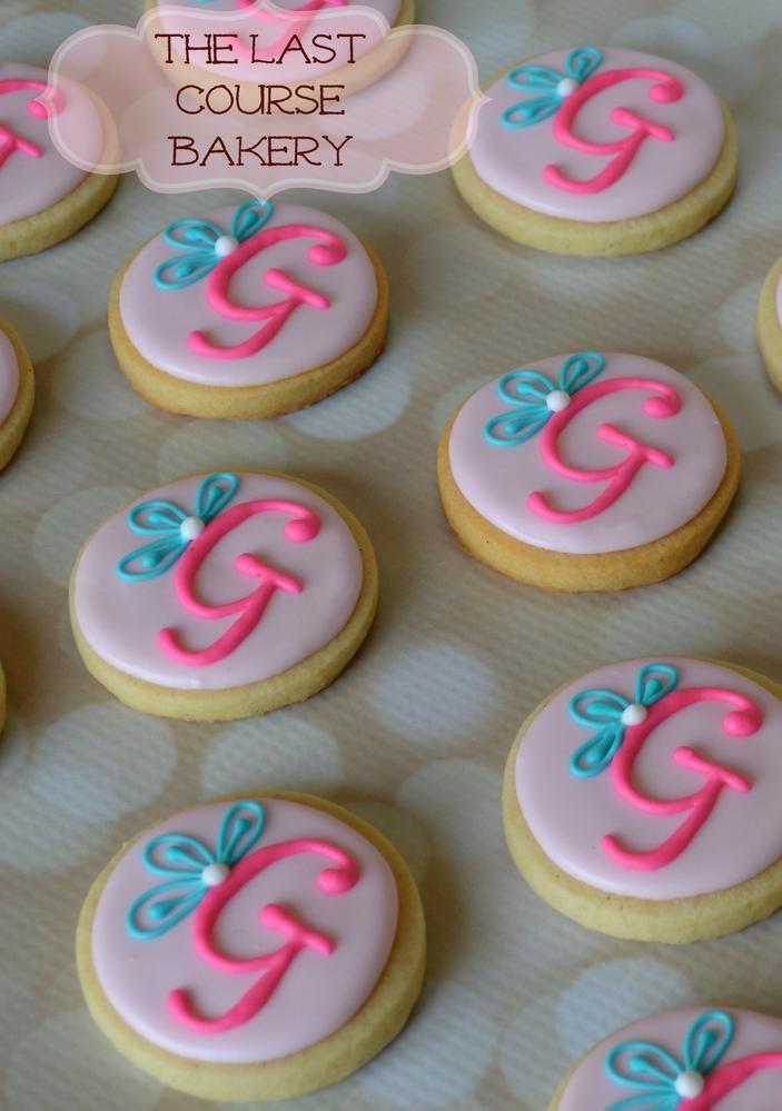 Sweetie Monogram Cookies   Cookie Connection live this!!!