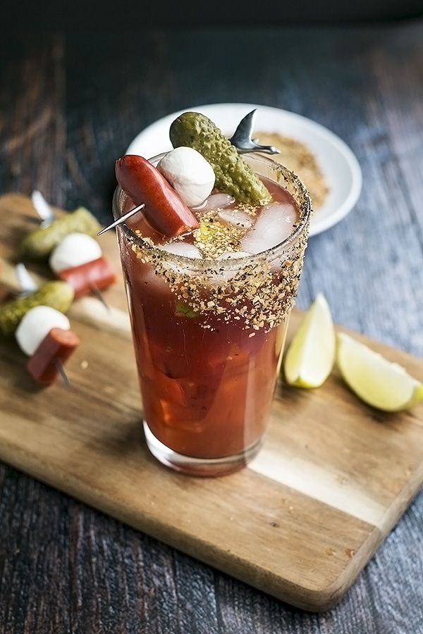 a caesar cocktail waiting to be drank
