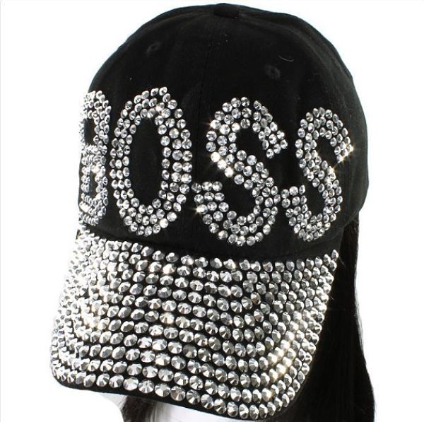"Crystal ""BOSS"" Cap Black, £19.99    Order today using discount code NYSAVE for an amazing 20% off all orders over £15  sale ends 5th Jan 2015  (free UK delivery on all orders)  www.christabeljewellery.co.uk"
