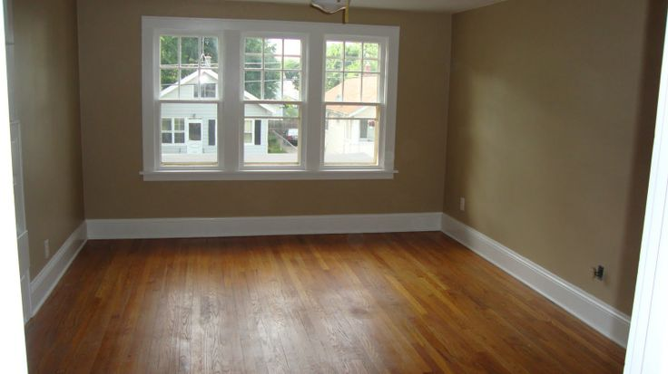 Khaki Walls White Trim And Wood Floors New House