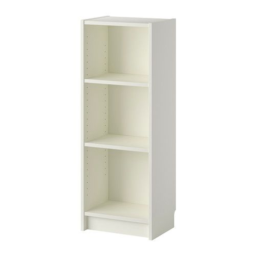 IKEA - BILLY, Bookcase, white, , Narrow shelves help you use small wall spaces effectively by accommodating small items in a minimum of space.Adjustable shelves can be arranged according to your needs.A simple unit can be enough storage for a limited space or the foundation for a larger storage solution if your needs change. - $24.99