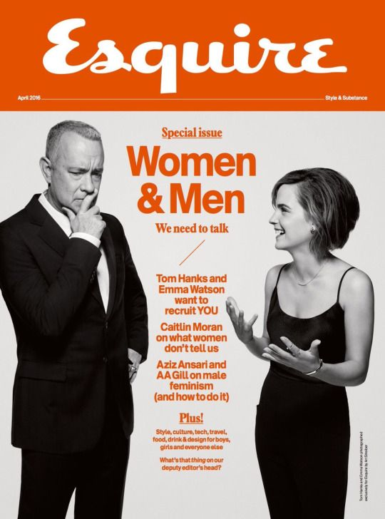 Emma Watson and Tom Hanks - Esquire UK (April 2016)