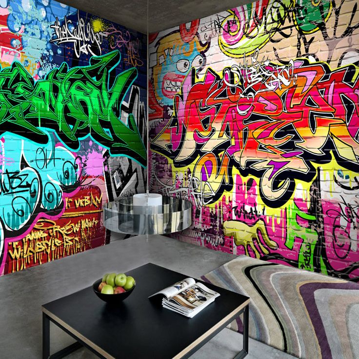 17 best images about graffiti on pinterest modern art for Graffiti style bedroom designs