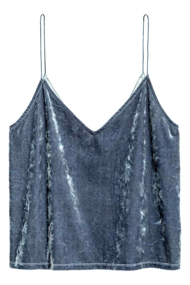 Simple Crushed velvet strappy top
