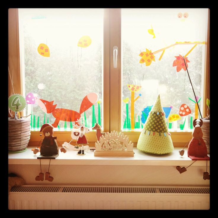 Fensterdeko herbst pinterest for Fensterdeko herbst