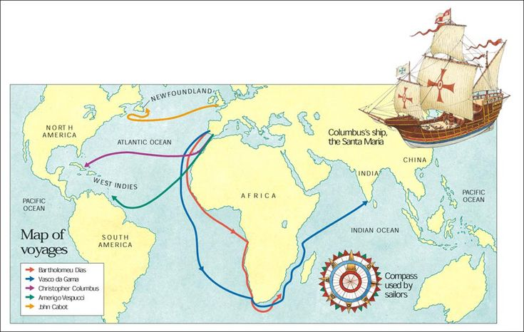 Map of voyages
