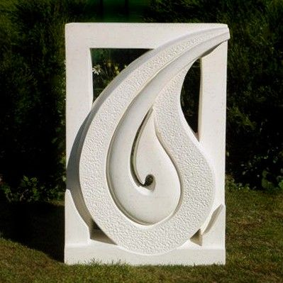 Framed Hei Matau - I loved the idea of doing a sculpture nestled within a square frame, with the straight sides accentuating the curves.