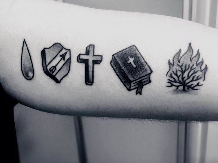 The Five Solas Tattoo  Sola Gratia - Grace Alone Sola Fide - Faith Alone  Solus Christus - Christ Alone  Sola Scriptura - Scripture Alone  Soli Deo Gloria - The Glory of God Alone