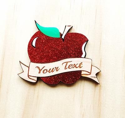Deer Arrow custom apple brooch