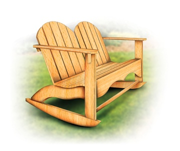 Adirondack rocking chair for two for my husband to build ...