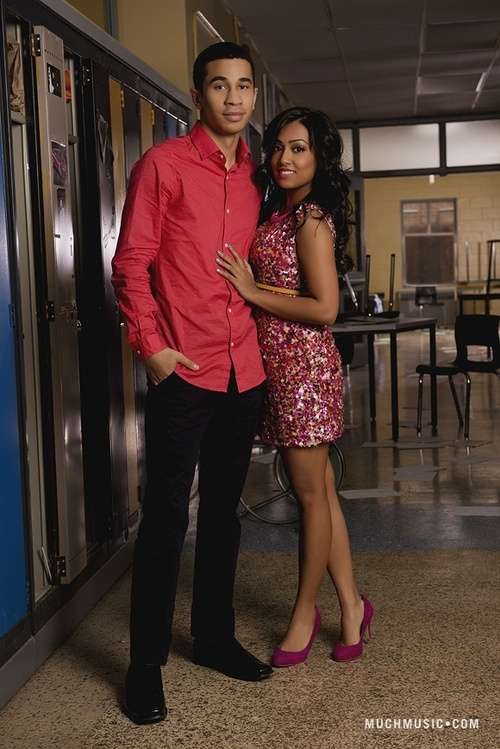 Demetrius Joyette as (Dallas) & Melinda Shankar as (Alli) #Degrassi