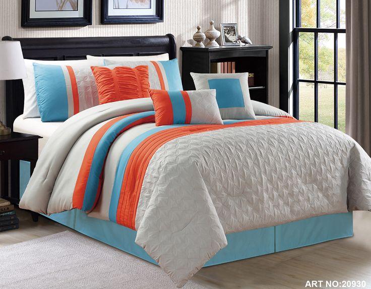 44 best orange bedding images on pinterest comforter orange bed linen and orange bedding. Black Bedroom Furniture Sets. Home Design Ideas