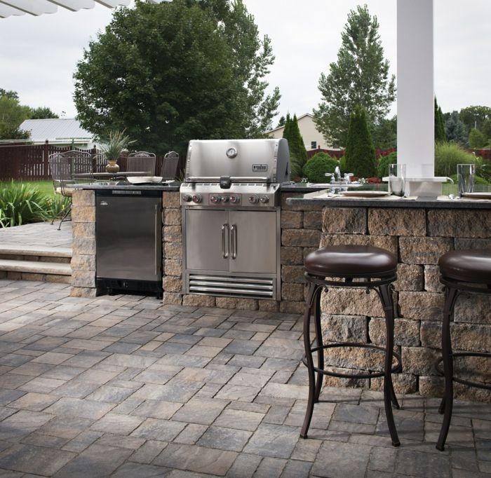 103 best grillplatz images on Pinterest Barbecue pit, Decks and - outdoor küche mauern