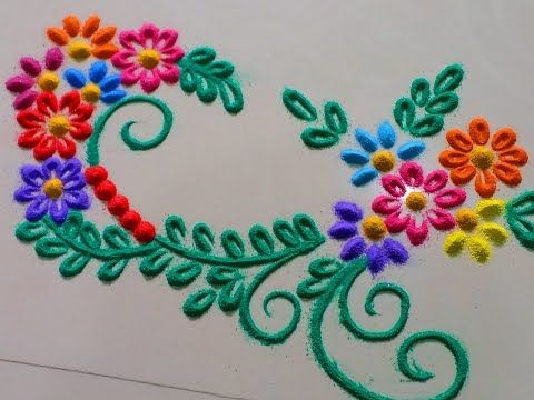 Latest, Unique and Beautiful Peacock Rangoli Designs|Creative Rangoli by Shital Mahajan. - YouTube