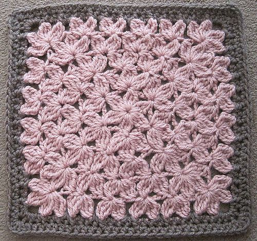 In Treble Afghan Square pattern by Julie Yeager - would look nice mixed in an afghan with some squares with large flowers