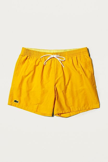 b84865e7ef5 Lacoste Croc Yellow Swim Shorts | Swim Trunks in 2019 | Mens swim ...